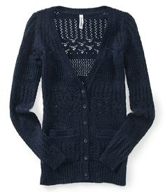 Textured Boyfriend Cardigan from Aeropostale