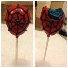 Spider-man Cakepops
