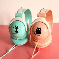 Cute Cartoon Cat Stereo Headphones Adjustable Headband Headsets with Microphone 3.5mm for Cellphones Smartphones Iphone Laptop Computer Mp3/4 Earphones