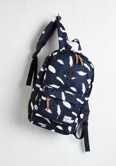 Student of Life Backpack by Herschel Supply Co. - Black, Novelty Print, Work, Casual, Quirky, Better