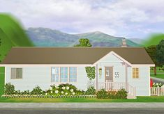"""""""Some Pleasantview makeover WIP exteriors """" The Dreamer's house and the Broke's house"""