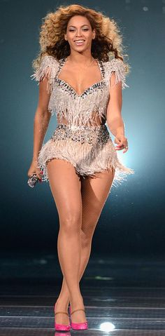Beyonce stage costume - perfect for Latin dance - salsa bachata cha cha rumba samba - fringe beading crystals