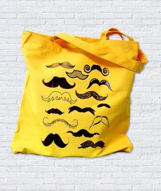 Mustache Collection Tote Bag