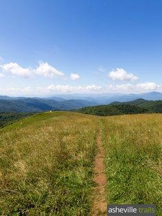 Hike this wide-open, grassy, rolling meadow at the summit of Max Patch, a bald mountain on the Appalachian Trail in North Carolina