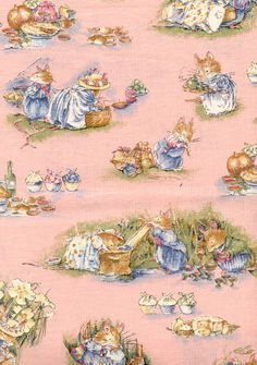 Brambly Hedge for Rose & Hubble by Jill Barklem from Books published by Harper Collins. British Rose, Rare Roses, Brambly Hedge, Bunny Painting, Tile Wallpaper, Watercolor Animals, Beatrix Potter, Art Journal Inspiration, Hedges