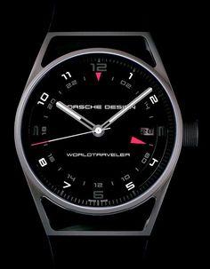 La Cote des Montres : La montre Porsche Design Flat Six P'6752 WorldTraveler - Une sportive en mode GMT