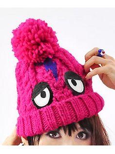 Inazuma Monster Knit Ca Pink / See more at http://www.cdjapan.co.jp/apparel/new_arrival.html?brand=LIS #harajuku