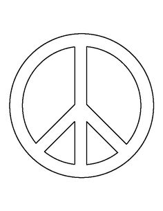 Peace sign pattern. Use the printable outline for crafts creating stencils scrapbooking  sc 1 st  Pinterest & Floral Peace Sign // Flower Power Motivational Print Inspirational ...