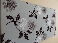 DIY wall art - fabric covered canvas