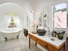 Photo of a bathroom design from a real Australian house - Bathroom photo 7776093 Small Basin, Bathroom Photos, Australian Homes, Corner Bathtub, Double Vanity, Real Estate, House, Design, Decor
