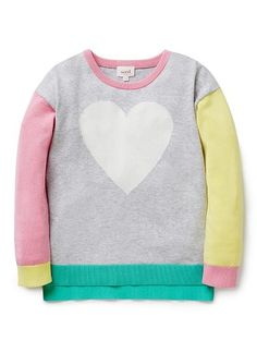 Girls Knitwear & Jumpers   Colour Block Sweater   Seed Heritage