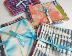 Hand Dyed Shibori Scrap Bundle by CapeCodShibori on Etsy