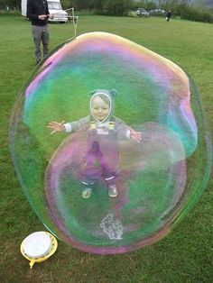 Dr Zigs Extraordinary Bubbles - bear in a bubble, sent in by Sandy Luthe Hughes