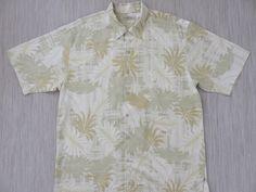 8ddcc113 TOMMY BAHAMA Shirt Hawaiian Shirt Men Techno Tropical Palm Print Surfer  Resort Wear 100% Silk Camp Aloha Shirt - XL - Oahu Lew's Shirt Shack