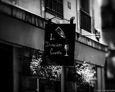"""Black and White Photography - paris wine shop st germain des pres paris black and white paris photography 8x10 paris photo foyer """"Last Drop"""" by LynnLangmade on Etsy"""