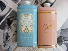 Vintage talcum powder...I remember my Mom having this.