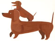 Two Dachsunds #painting