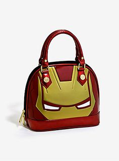 Loungefly Marvel Iron Man Mask Patent Dome Bag,