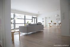 Valkoinen harmaja, Laajempaa kuvaa olohuoneesta