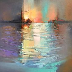 More stunning landscape painting from Jason A lovely balance of pastel tones giving a warm reflective quality… Abstract Painting Techniques, Abstract Landscape Painting, Landscape Art, Landscape Paintings, Abstract City, Art Paintings, Contemporary Abstract Art, Oeuvre D'art, Abstract Expressionism