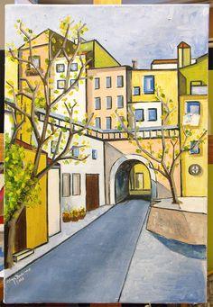 "Olga Branco - ""Paisagem"" - Pintura a óleo"