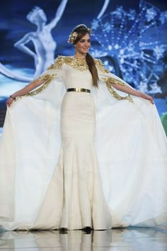 Miss Lebanon — Most Cleverly Engineered Cape | 36 Most Amazingly Elaborate Miss Universe Costumes