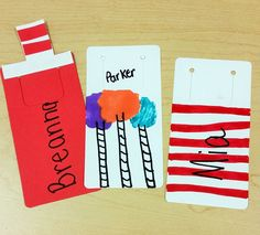 Celebrate Read Across America day by having students create their own Dr. Seuss themed bookmarks