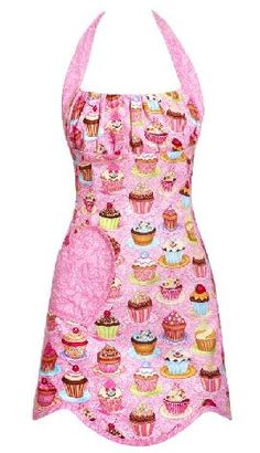 What a great gift for the baker in your life...Cupcakes in Pink..love the ruching at the top!