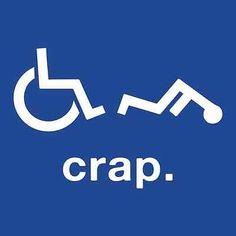 Crap Wheelchair Handicap Funny T Shirt Disabled Rude Offensive Novelty Humor Tee | eBay