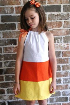 candy corn dress: This could be an adorably fun costume for an adult too.