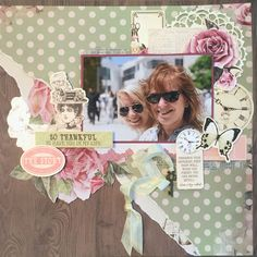 Kaisercraft Layout using Mademoiselle collection Wedding Scrapbook Pages, Vintage Scrapbook, Scrapbook Journal, Scrapbook Albums, Scrapbook Cards, Scrapbook Designs, Scrapbook Page Layouts, Heritage Scrapbooking, Layout Inspiration