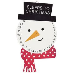 could totally make this with split pins Snowman Countdown To Christmas