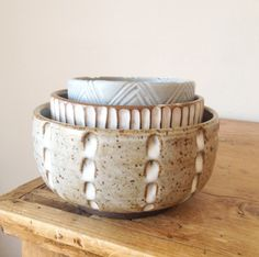 ceramic carved bowls, Malinda Reich