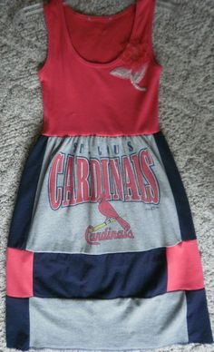st louis cardinals dress | St. Louis Cardinals Dress by FANFASHIONS on Etsy