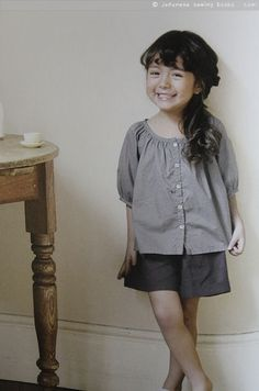 From a japanese pattern book- little girls clothes to sew, smock blouse