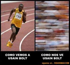 Como nos ve Usain Bolt | Risa Sin Más