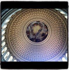 Dome ceiling shot inside US Capitol Building #photo #DC