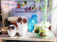 Animaletti in ceramica Jar, Home Decor, Decoration Home, Room Decor, Home Interior Design, Jars, Glass, Home Decoration, Interior Design
