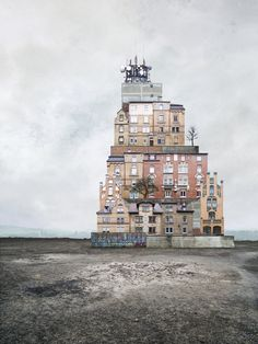 Whilst traversing the seemingly endless internet, a peculiar collage of a hovering house caught our eye. Tracing the uncredited work back to the artist's well-curated website, we found Matthias Jung, a middle-aged artist from the tiny town of Asperg, Germany. Crafting surreal homes out of co
