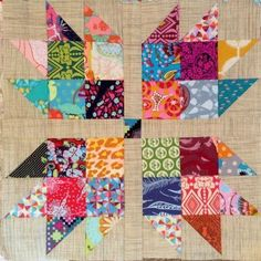 Love this block. Would look great with linen back ground
