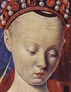 Perhaps an early documented royal case of Alopecia? French History, European History, Women In History, Art History, History Projects, Roi Charles, King Charles, Agnes Sorel, Jean Fouquet