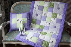 """Купить Комплект в кроватку """"ПРОВАНС"""" - сиреневый, детское одеяло, детское лоскутное одеяло, покрывало в детскую"""