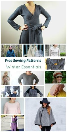 15 Free Sewing Patterns:  Winter Essentials. This site had lots of roundups and tips