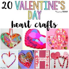 20 Valentine's Day heart crafts for kids they will love! Create valentine heart pockets, crowns, sun catchers, and more special keepsake projects for February with a few basic supplies.