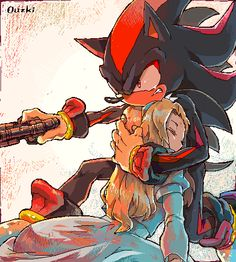 Shadow the Hedgehog and Maria; If Shadow hadn't been trapped in the pod when Maria was shot. Shadow The Hedgehog, Maria The Hedgehog, Sonic The Hedgehog, Game Character, Character Design, Shadow And Maria, Sally Acorn, Sonic Franchise, Sonic And Shadow