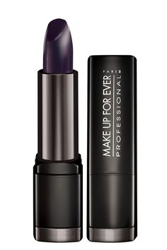 The Surprisingly Flattering Beauty Trend  #refinery29 Make Up For Ever Rouge Artist Intense in 14, $20 ... Reminds me A LOT of MAC's Cyber http://www.refinery29.com/purple-lips#slide8