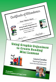 Free reading professional development from home! Attend Laura Candler's upcoming webinar on creating reading lessons for Common Core informational text and literature standards, and download an attendance certificate when the session ends. Details on Corkboard Connections!
