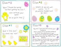 Easter egg scavenger hunt free printables