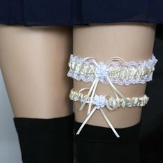 bc57ccd3b Harajuku Lace Leg Chain Harness Garters Liga Em Renda