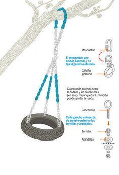 Cuanto más colorida sean la cadena y los protectores (en azul), mejor quedará. También puedes pintar la rueda.